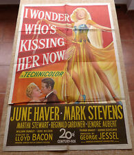 I Wonder Who´s Kissing Her Now Movie Poster, Original, Folded, 1Sheet, 1947, USA