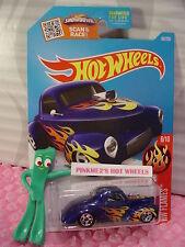 Case B/C 2016 Hot Wheels '41 WILLYS coupe #96✰met Blue;5sp; orange/yellow Flames