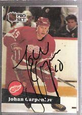 Autographed 1991 Pro Set Johan Garpenlov Detroit Red Wings