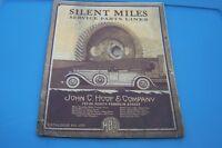 1927 JOHN HOOF SILENT MILES car auto service catalog (MISC4191)