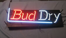 Bud Light Neon Bar Window Sign 30 inch wide 1990 Fully Functional