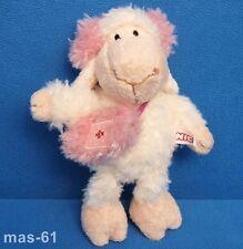 NICI svenjo Pecora Con Borsa Sheep 15 cm Peluche Beanie Agnello Pecora Invernale