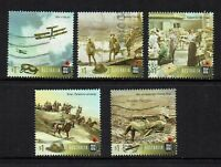AUSTRALIA  2017...CENTENARY OF WWI....USED SET OF 5 ...SHEET STAMPS