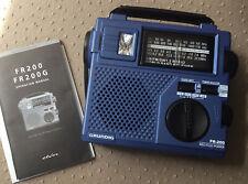 Grundig FR-200 AM/FM/SW1/SW2 World Band Rec Radio w/ Light Crank Emergency Case
