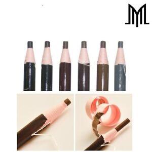 Microblading Eyebrow Peel-off Pencil - SPMU - Waterproof Marker Liner 6 Colours