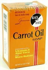 Black and White Botanical Face & Body Carrot Oil Soap 6.1 oz