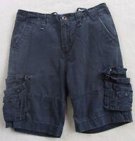 Foot Locker Men's Navy Blue Cargo Khaki Casual Shorts - Tag 30/Measured 34