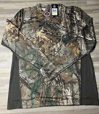 $40 Under Armour Realtree Camo Tech L/S Shirt Men's MEDIUM Hydro 1279685-946