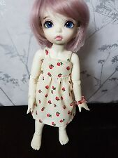 Strawberry print dress for YoSD BJD