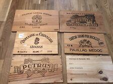 6 X Wine Box Fronts Lids Panel Wood Petrus