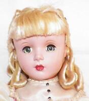 Amy Little Women Doll Madame Alexander Hard Plastic 14in. Loop Curls Tag NICE