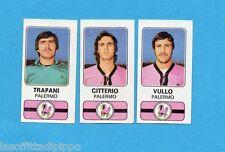 PANINI CALCIATORI 1976/77-Figurina n.454- TRAPANI+CITTERIO+VULLO -PALERMO-Rec