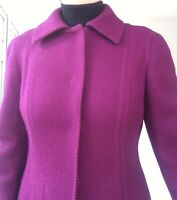 "alberta ferretti coat wool mohair size8uk PETITE bust 32"" purple great condition"
