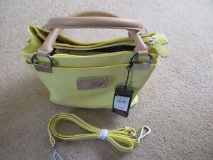 BNWT Gorgeous Ben De Lisi Sunshine Yellow Patent Grab/Shoulder Bag