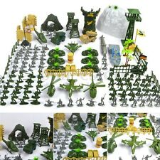 150 pcs Military Plastic Toy Soldier Army Men Figures & Accessories Playset Kit