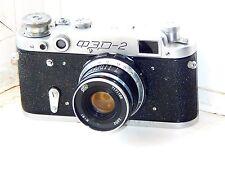 FED-2 35mm Soviet Rangefinder Film Camera (copy Leica) w/s lens industar-61 EXC
