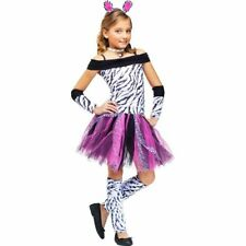 Childs Zebra Print Tutu Costume With Tail. Size 12-14yrs.
