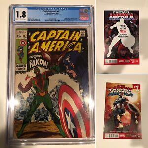 Captain America 117 CGC, Captain America 25, and All New Captain America 1