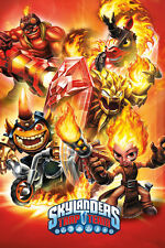 Skylanders Trap Team Fire POSTER 61x91cm NEW * character collage