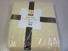 "Intelligent Design Plush Microlight Brushed Throw Blanket Yellow 60"" x 70"""