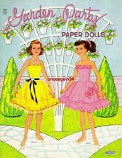 Vintage Uncut 1957 Petticoat Girls/Garden Party Paper Dolls~#1 Reproduction~Rare