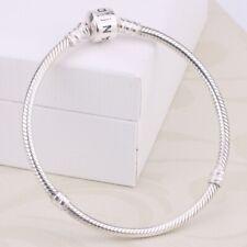 Pandora 925 Sterling Silver Bangle Beads Bracelet Luxury Unisex Fashion Charm