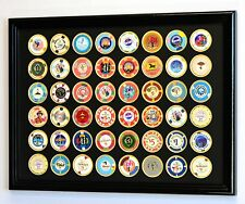 48 Casino Poker Chip Coin Frame Display Case Holder with Custom Colored Matting