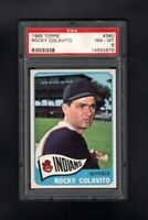 1965 TOPPS #380 ROCKY COLAVITO CLEVELAND INDIANS PSA 8 NM/MT CENTERED!