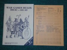 WRG-War Games Rules 3000 B.C. to 1485 A.D. 7th Edition- Febuary 1986