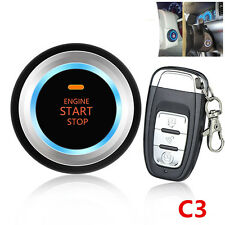 Car Alarm System Security Alarm Engine Start Push Button RemotLED Audible alarm