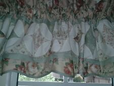 JCPenney Valance, Quilted Look, Sage,Peach,Ivory