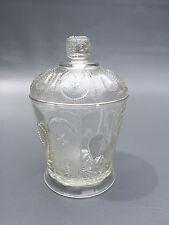 Antique U. S. Glass Co. pressed glass sugar bowl & lid 1890's