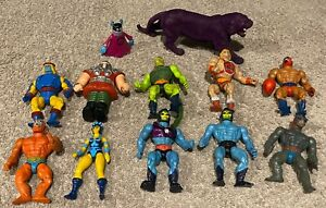 Vintage Mattel Masters of the Universe Figure Lot of 12 Terror Claw Skeletor