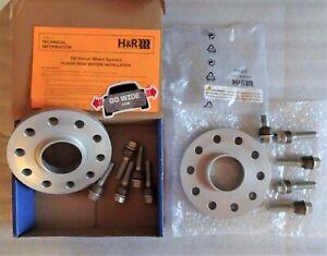 H & R PORSCHE 996 997 991 WHEEL SPACER 1) SET 18 mm SILVER 100 % GERMAN 36957161