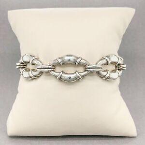 Estate Scott Kay Sterling Silver Amethyst Bracelet