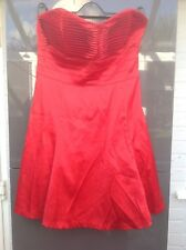 Jane Norman - Womens Dress size 14 Red Strapless PARTY
