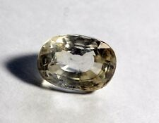 7.96 Ct Natural Colorless Sapphire Loose Ceylon Mines Unheated Untreated Gem