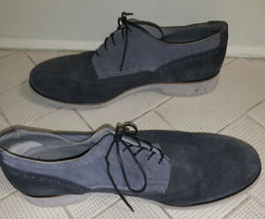 Emporio Armani Mens Suede Laces Blue  Shoes 10 1/2  Preowned Italy