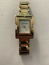 Bcbg Max Azria Goldtone Watch With Mother Of Pearl Face