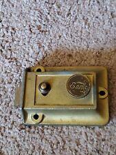 New listing Antique Vintage Earle Door Lock/Dead Bolt~Brass and Cast~Works! Rare
