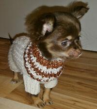 Hundepullover xxs  ,für Welpen! RL: ca. 16cm aus Mohair