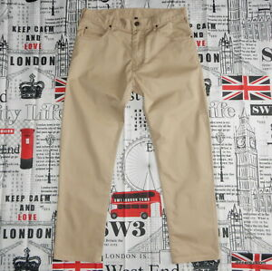 mens W31 L26 AJ Armani Jeans Stretch Cotton J45 Slim Fit / Beige