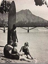 Antique 1924 Hawaii Spring Tourism Ad Surfing  Surfboard Print Advertisement