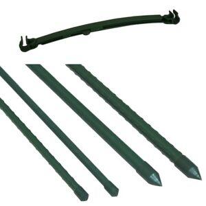 10x Rankhilfe Pflanzstab Pflanzenstütze Rankstab Stange Stab Verbinder Set 32cm