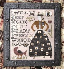HOME IN MY HEART SAMPLER-CROSS STITCH CHART-KATHY BARRICK