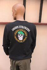 -*- Taille L -*- Sweat-Shirt  manche longue Légion Etrangère  (noir)