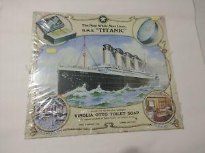 TITANIC METAL SIGNPLAQUEWALL Vinolia Otto Soap Travel poster art print picture