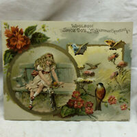 Vintage Advertising Woolson Spice Company Trade Card Greeting Card Lion Coffee