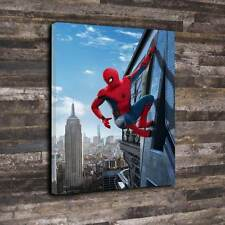 "Spiderman regreso a casa Lona Impresa Caja A1.30""x20"" - 30mm Marco Profundo Peter Parker"