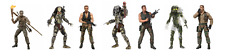 Predator 30th Anniversary Action Figures Full Set of 7 Figures Official NECA